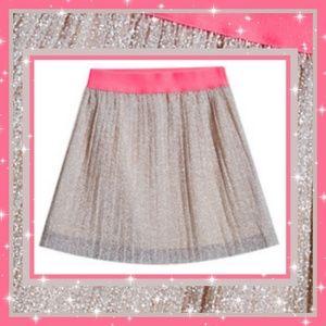 FABKIDS Girls Pleated Shimmer Skirt Sz: 12/14